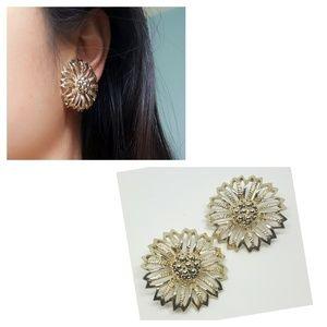 Vintage▪ Sarah Coventy sunflower clip on earrings